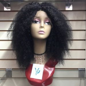 (INDU) 100% UNPROCESSED HUMAN HAIR LACE FRONT WIG